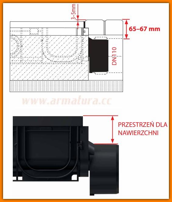 AVZ-P010 ALCAPLAST Zaslepka czołowa odwodnienia mimośrodowa Ø110 mm