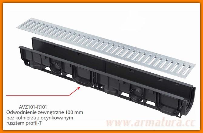 Odpływ Liniowy Do Garażu Garażowy Dł 3 M Odpływ Boczny Avz G101b