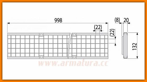 odwodnienie liniowe AVZ103-R104 PROFI ALCAPLAST korytko odwodnienia