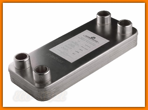 """Wymiennik 1"""" bez izolacji Webermn IC9THx10 dla instalacji z termokominkiem lub kotłem na paliwo stałe"""