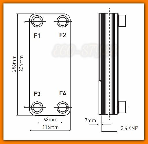 """Wymiennik 1"""" bez izolacji Weberman Ferro IC9THx15 dla instalacji z termokominkiem lub kotłem na paliwo stałe"""