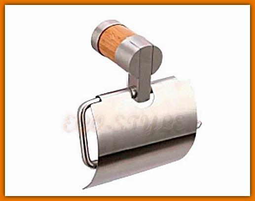 uchwyt na papier toaletowy z drewna bambusowego FERRO K15F