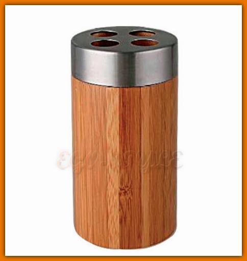 kubek na szczoteczki z drewna bambusowego FERRO K16F