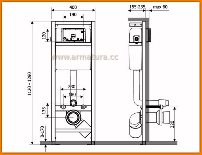Stelaż podtynkowy LINK K97-108 do zabudowy lekkiej CERSANIT