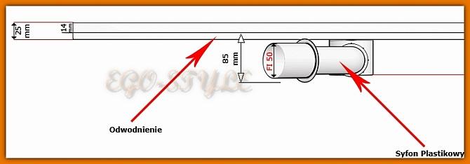 odpływ liniowy 900KF_p KESMET odwodnienie 90 cm