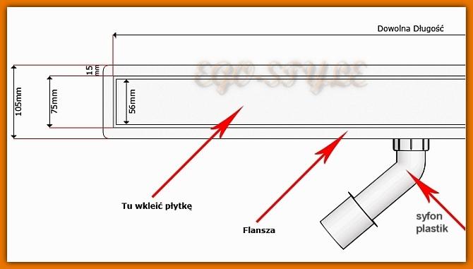 KESMET odpływ liniowy 900KF_zab_p odwodnienie do zabudowy 90 cm