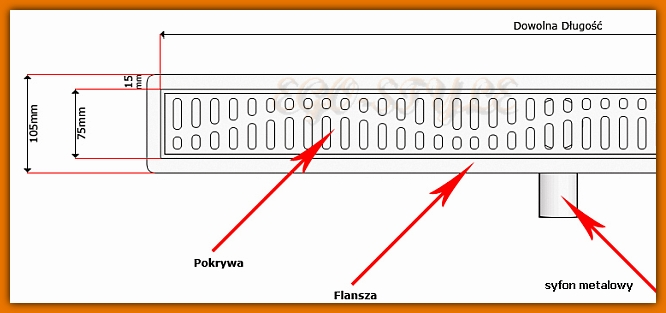 odwodnienie liniowe KESMET 900KNF_m odpływ liniowy L-90 cm