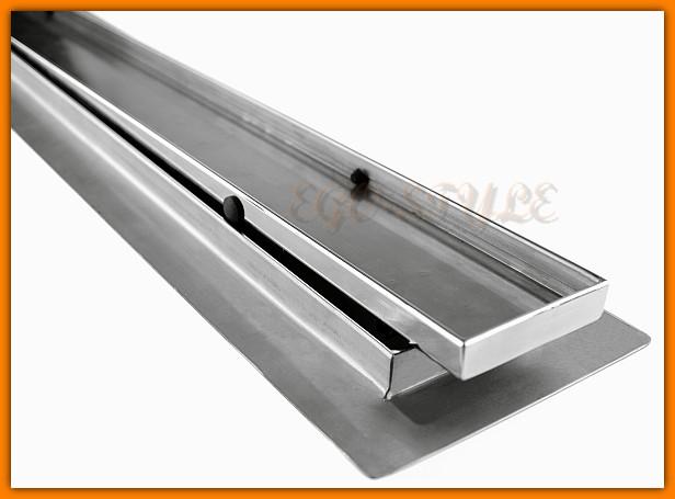 odpływ liniowy do zabudowy z wygiętą flansza 900KNWF_m KESMET L-90 cm odwodnienie z syfonem metalowym