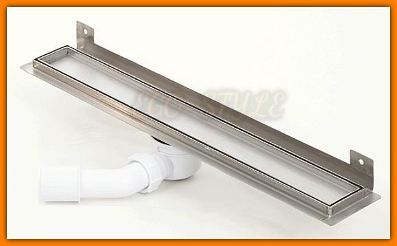 odwodnienie liniowe 110 cm KESMET 1100KWF_p do zabudowy płytką z wygiętą flanszą