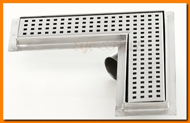 odwodnienie liniowe KESMET 900KFL_m narożne, odpływ łazienkowy