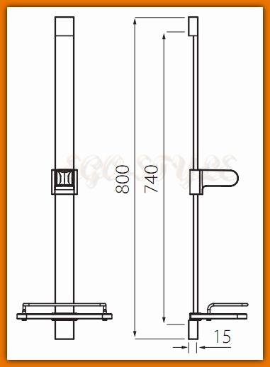 natrysk przesuwny QUADRO N110 FERRO