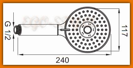 słuchawka natryskowa prysznicowa MATTINO FERRO S310 - tania wysyłka