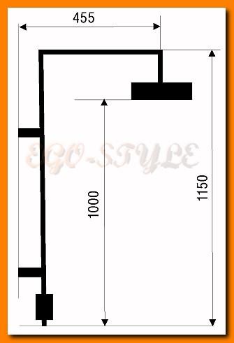zestaw natryskowy deszczownica FERRO SET060/2.0