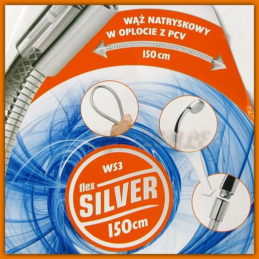 Wąż natryskowy Flex Silver W53 FERRO