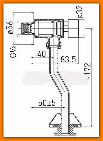 FERRO Z211 zawór pisuarowy z regulacją