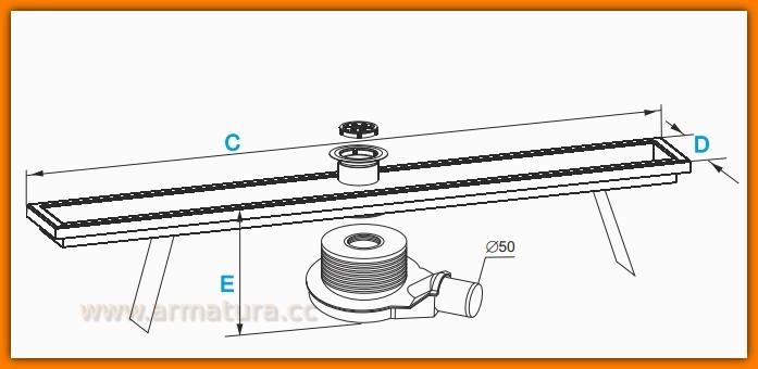 Odpływ liniowy WDO-1000-BR-2201 odwodnienie ekonomiczne WINKIEL DESIGN 100 cm