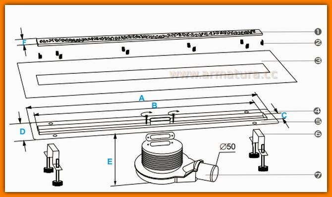 Odpływ liniowy FINO PERLE WINKIEL DESIGN WDO-800-03-6602