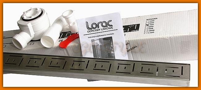 odwodnienie liniowe, odpływ liniowy, LORAC DELFIN L-90 cm