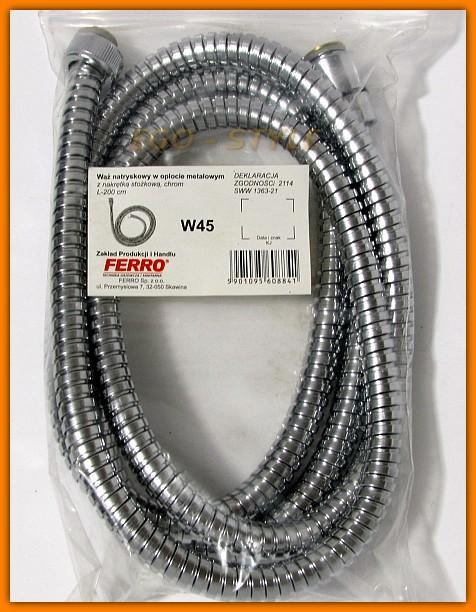 Wąż natryskowy W45 FERRO L-200 cm