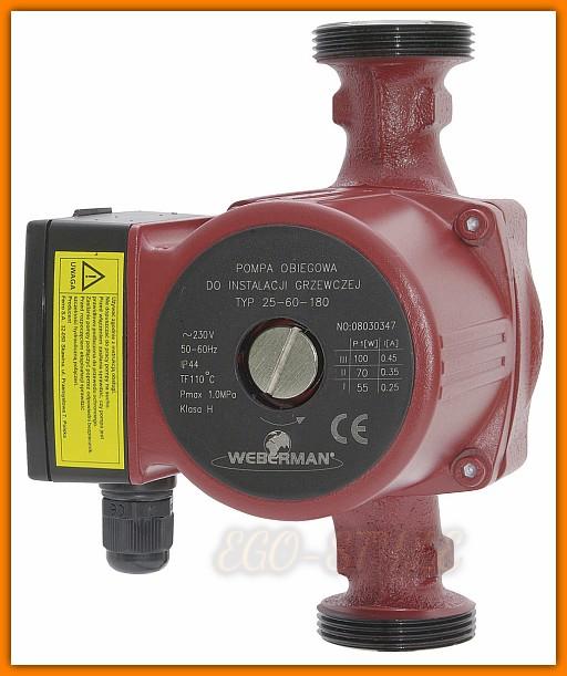pompa obiegowa CO 0203W WEBERMAN 25-60 180