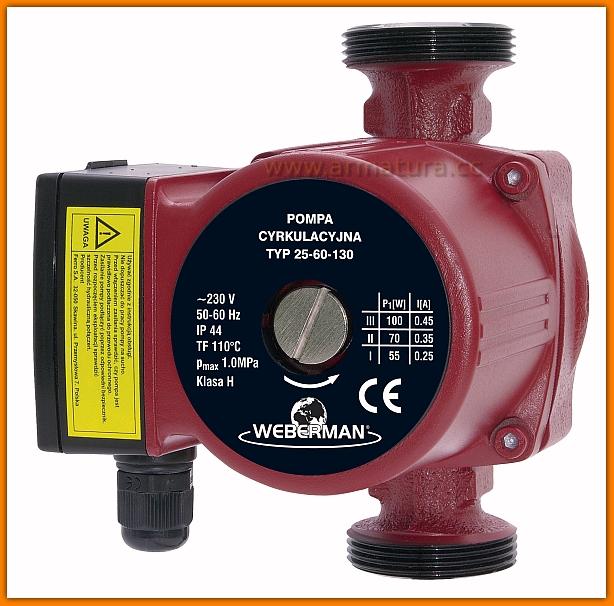 Pompa co WEBERMAN 25-60 130 FERRO 0204W c.o.