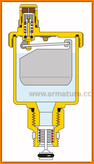 caleffi Odpowietrznik automatyczny 1/2 502241 502231 502221 valcal