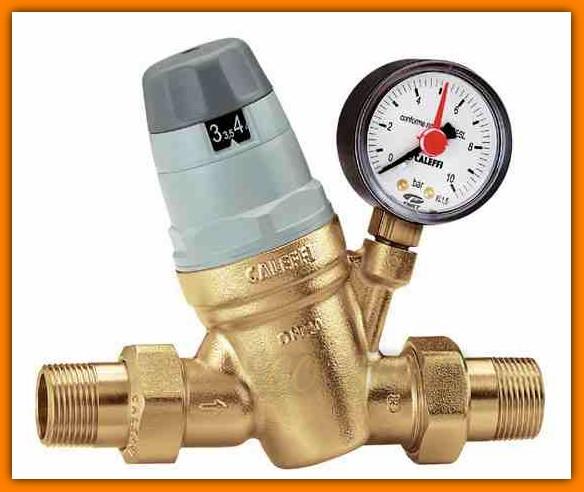 "Reduktor ciśnienia 2"" CALEFFI 535091 Ferro z manometrem"