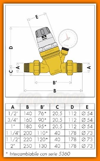 CALEFFI 535061 Reduktor ciśnienia 1