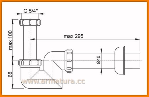 Pół-syfon bidetowy/umywalkowy A45F Ø40 AlcaPLAST do bidetu