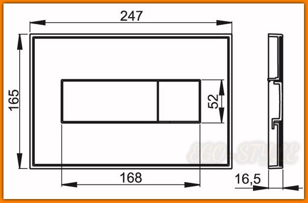 Przycisk spłuczki podtynkowej M1370 biały z płytką ALCAPLAST DELFIN
