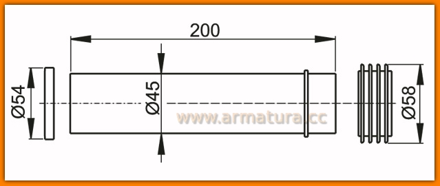 AlcaPLAST M901 Uszczelka dopływu spłuczki WC, rura dopływowa, uszczelka