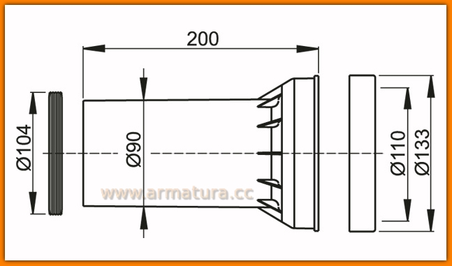AlcaPLAST M902 Uszczelka odpływu, podłączenie, uszczelka podłączenia WC