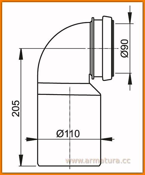 AlcaPLAST M906 Kolano odpływu komplet 90/110 spłuczki A100