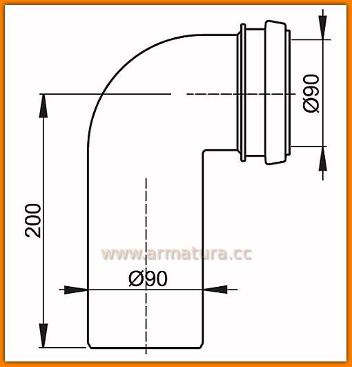 AlcaPLAST M908 Kolano odpływu komplet 90/90 spłuczki A101/A102