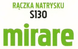 rączka natrysku S130 MIRARE FERRO