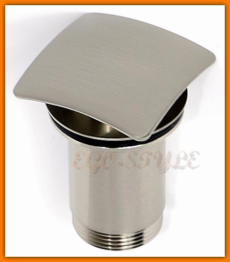 zawór spustowy korek umywalki automatyczny klik-klak, click-clack S283NC QUADRO FERRO