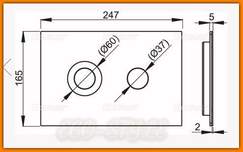 Przycisk spłuczki podtynkowej FLAT TURN INOX ALCAPLAST