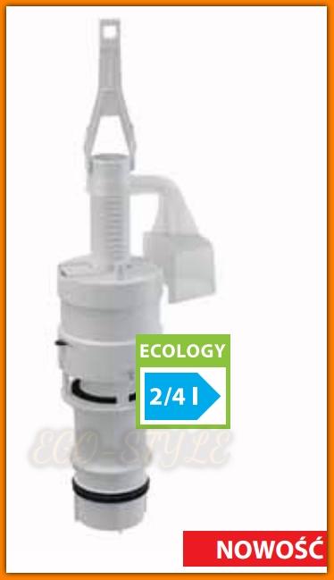 Zawór spustowy A06E do spłuczki podtynkowej ALCAPLAST Ecology 2/4L nowość !
