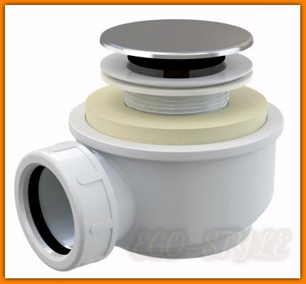 Syfon brodzikowy A476 Ø50 mm KLIK-KLAK ALCAPLAST click/clack niski