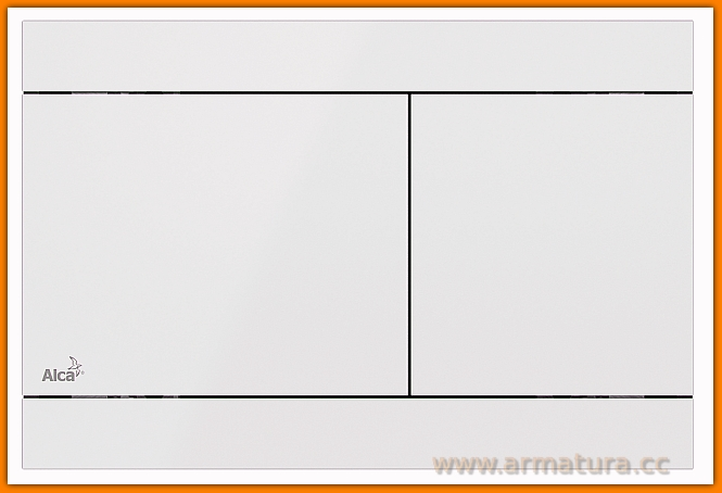 Przycisk FLAT Color FUN WHITE AlcaPLAST
