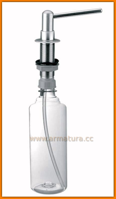 Dozownik płynu mydła mosiądz SATYNA McALPINE HC20-SC