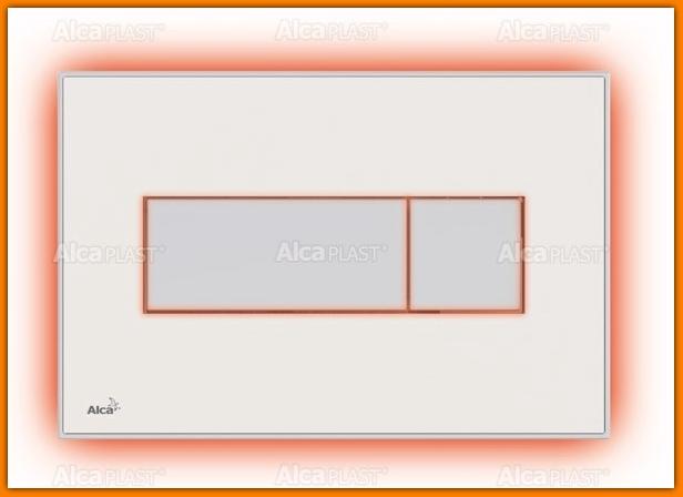 ALCAPLAST Przycisk spłuczki M1470-AEZ110 z płytką wklejaną biała i podświetlenie białe Alca Light