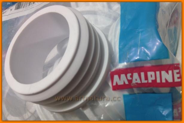 Redukcja gumowa 50x40mm biała McAlpine FLEXCONN-5040-WH
