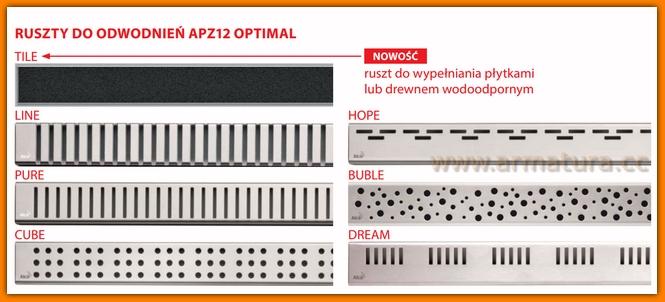 TILE-950 AlcaPlast Ruszt do odwodnienia liniowego