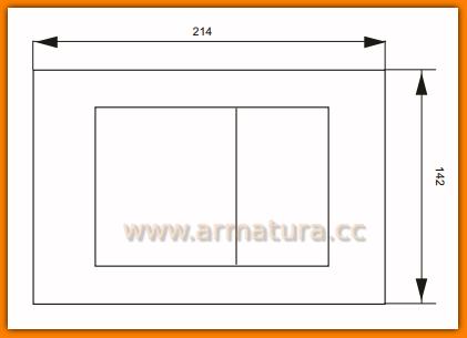 Przycisk spłukujący WC Chrom WINKIEL IN-WALL WIW200.2.2 Delfin STAR