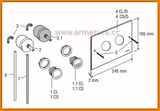 Pompka przycisku pneumatycznego VALSIR 802568