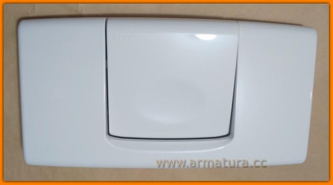 Przycisk spłukujący WC EGEA biały 823401 VALSIR