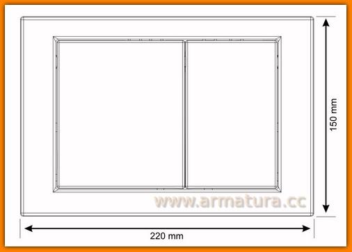 Przycisk spłukujący WC antybakteryjny Cersanit LINK biały K97-193