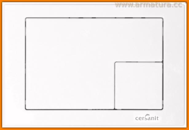 przycisk do stelaża wc CERSANIT LINK BIAŁY K97-173