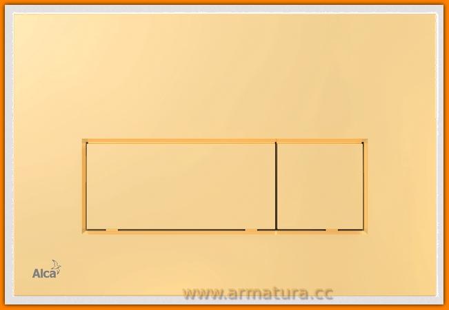 przycisk spłuczki M575 ALCAPLAST DELFIN złoty